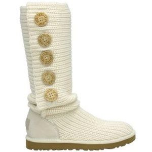 UGG knitted cream boots
